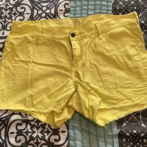Old Navy Shorts - Neon Yellow Old Navy Diva Shorts